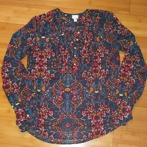 Converse boho sheer blouse large